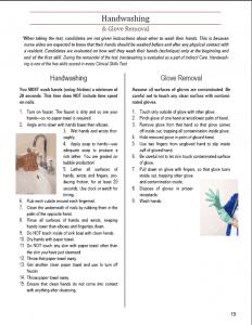 handwashing skills page