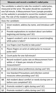 pulse clinical skills checklist